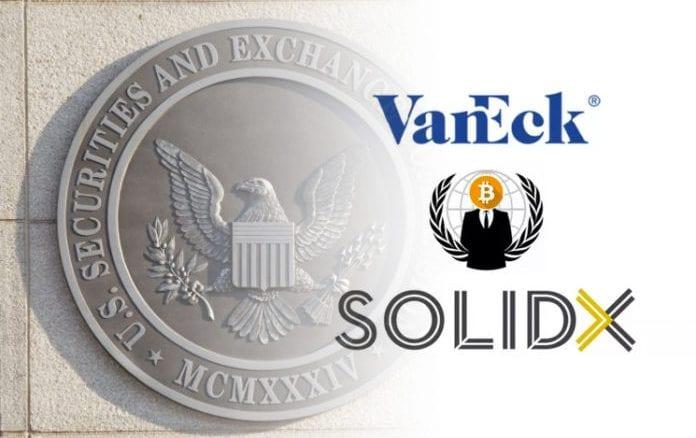 CBOE отозвал заявки VanEck и SolidX для Bitcoin ETF