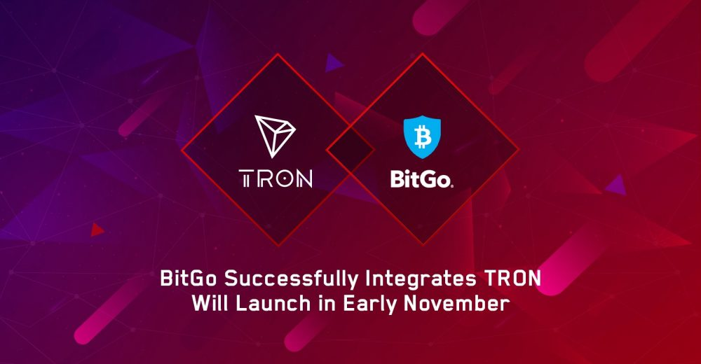 BitGo обеспечит институциональное хранение для Tron