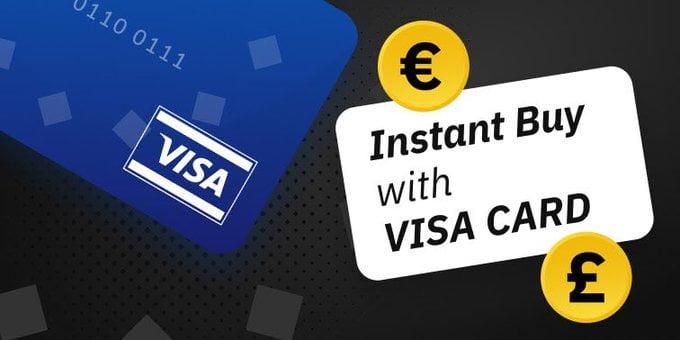 Binance добавила возможность покупки биткоина с помощью карты Visa