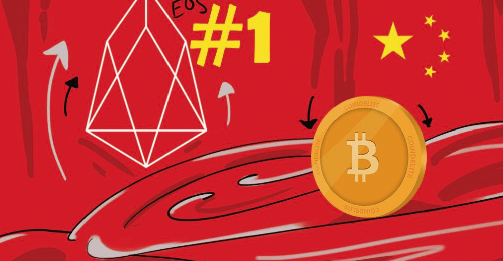 В новом рейтинге криптовалют Китая Tron обошел Ethereum, EOS по-прежнему в лидерах
