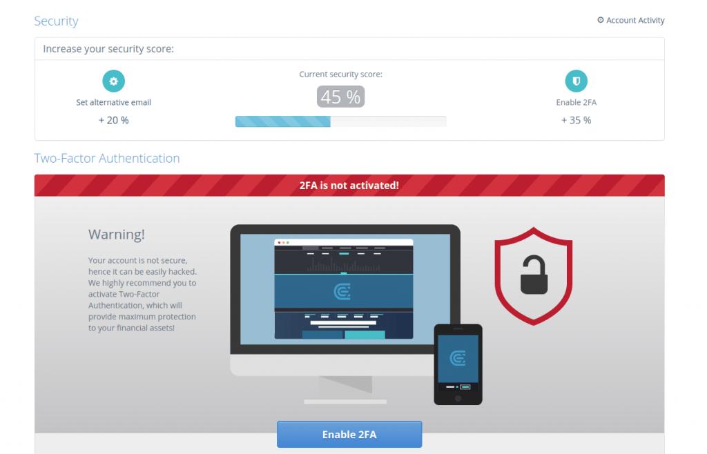 Cex.io - Обзор биржи - безопасность
