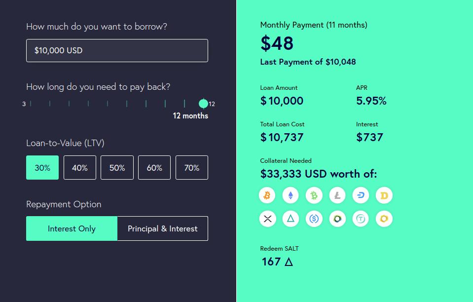 SALT - Обзор платформы крипто-кредитования