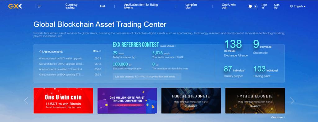 EXX - Обзор криптовалютной биржи