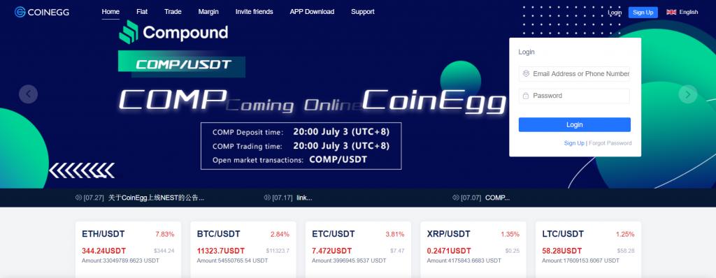 Coinegg - Обзор криптовалютной биржи