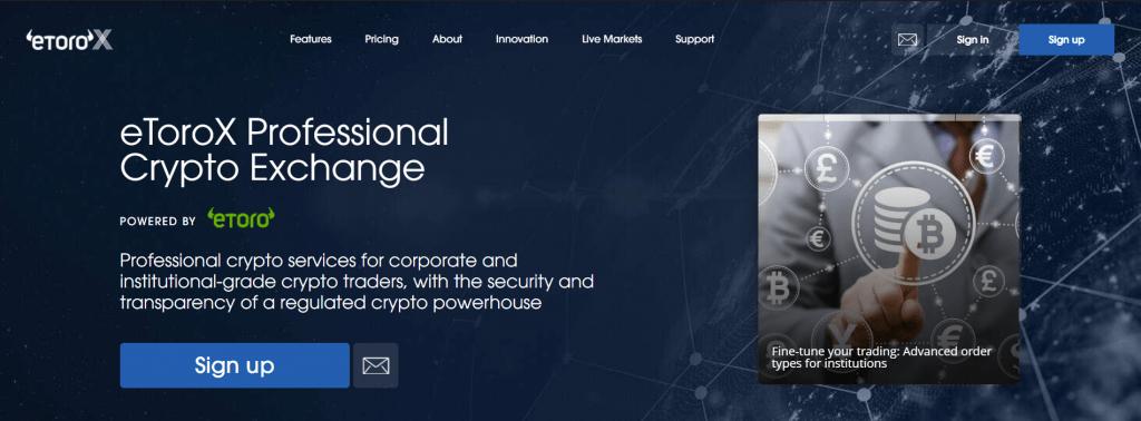 eToroX - Обзор криптовалютной биржи