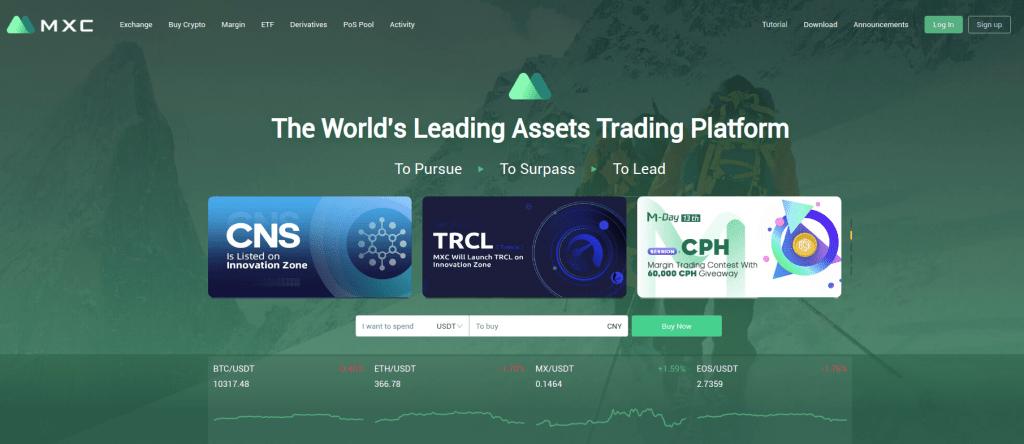 MXC - Обзор криптовалютной биржи