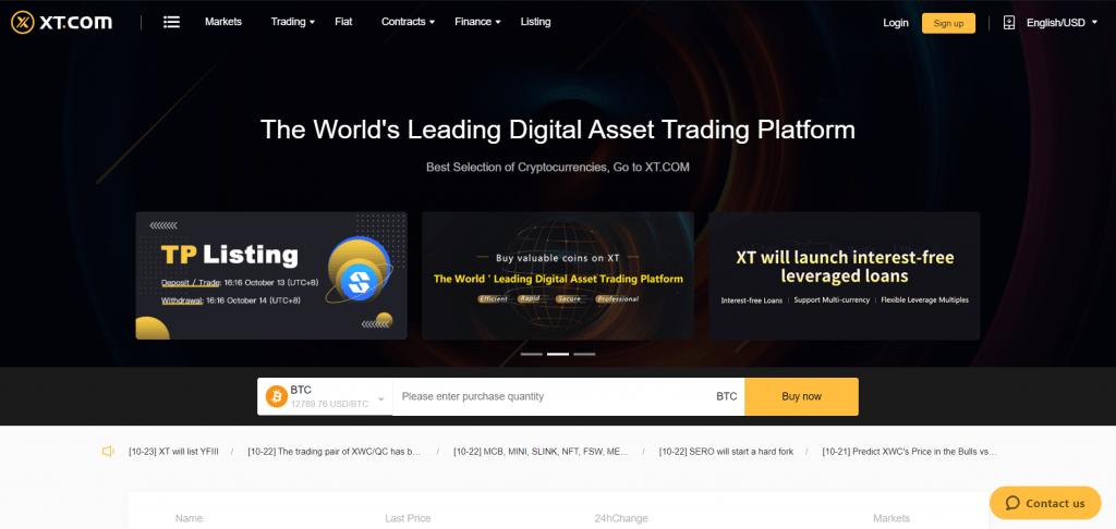 XT.com - Обзор криптовалютной биржи